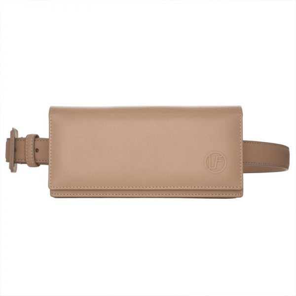 TAUPE LEATHER SUNGLASSES CASE